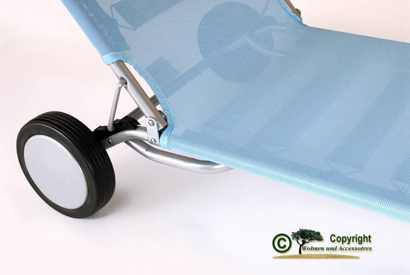 fiam liegestuhl strandstuhl mit r dern hellblau jan kurtz strandliege. Black Bedroom Furniture Sets. Home Design Ideas