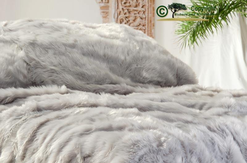 sehr gro e felldecke tagesdecke webpelzdecke zobel silber grau 260x300cm ebay. Black Bedroom Furniture Sets. Home Design Ideas
