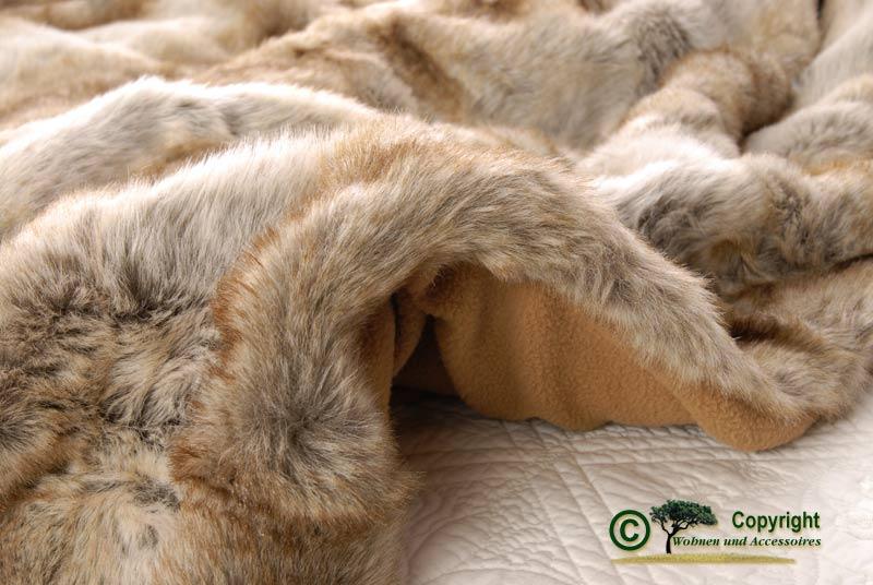 gro e felldecke tagesdecke webpelzdecke wolf hell 240 ebay. Black Bedroom Furniture Sets. Home Design Ideas