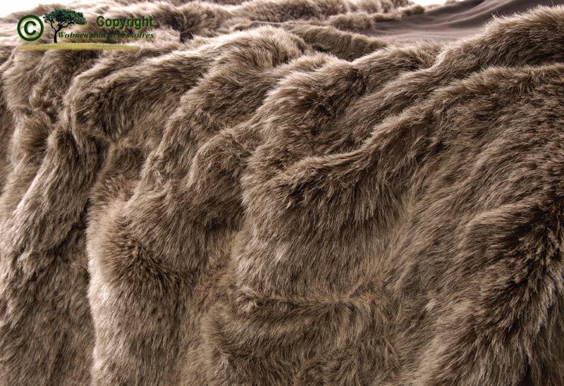 Gro e felldecke tegesdecke webpelzdecke grizzly b r 170 ebay for Wohnen und accessoires