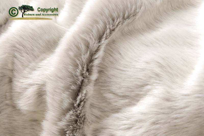 Felldecke webpelzdecke tagesdecke silberfuchs 170x220 grau for Wohnen und accessoires