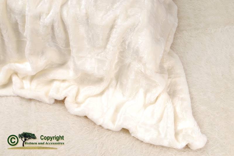 felldecke webpelzdecke tagesdecke eisb r 220x240 wei ebay. Black Bedroom Furniture Sets. Home Design Ideas