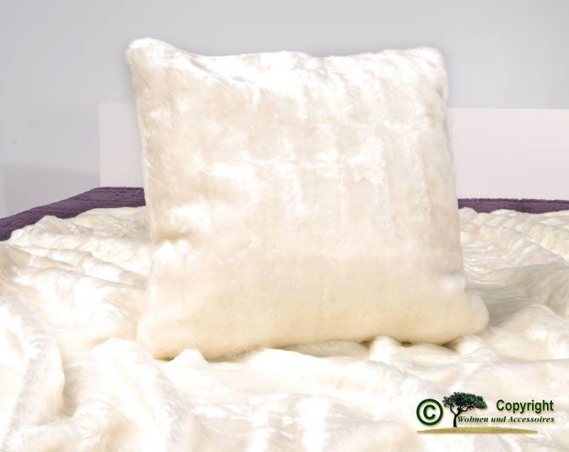 fellkissen pelzkissen webpelzkissen dekokissen eisb r 45x45 ebay. Black Bedroom Furniture Sets. Home Design Ideas