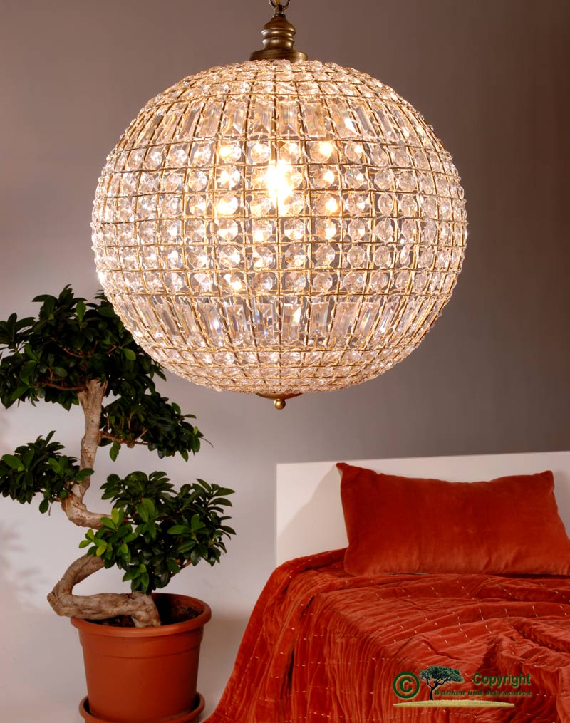 H ngelampe antik optik gro e kugelleuchte kugellampe for Accessoires wohnen