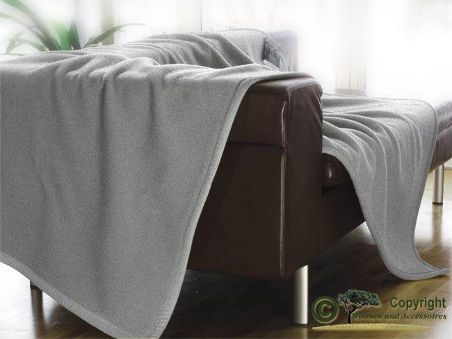 Wolldecke wolldecken 100 merino lammwolle hellgrau 150x220cm for Wohnen und accessoires