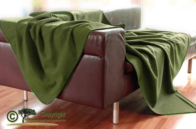 steiner wolldecke plaid susanna 100 merino wiese gr n ebay. Black Bedroom Furniture Sets. Home Design Ideas