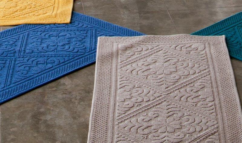 Badteppich badematte badvorleger 110x54cm grau braun for Wohnen und accessoires
