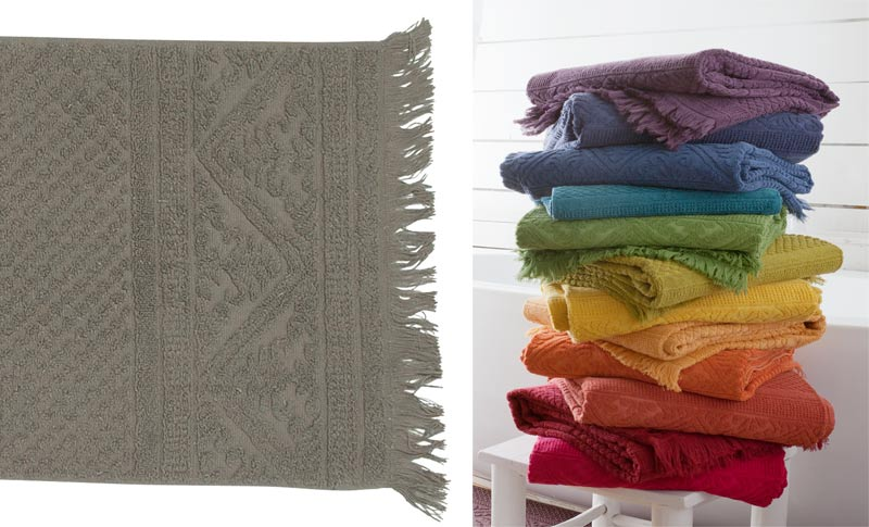 Gro es handtuch duschtuch badetuch 70x140cm grau braun for Wohnen und accessoires