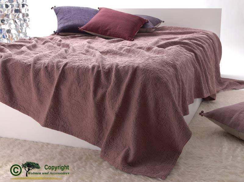 franz sische tagesdecke bett berwurf lune altrosa 180 ebay. Black Bedroom Furniture Sets. Home Design Ideas