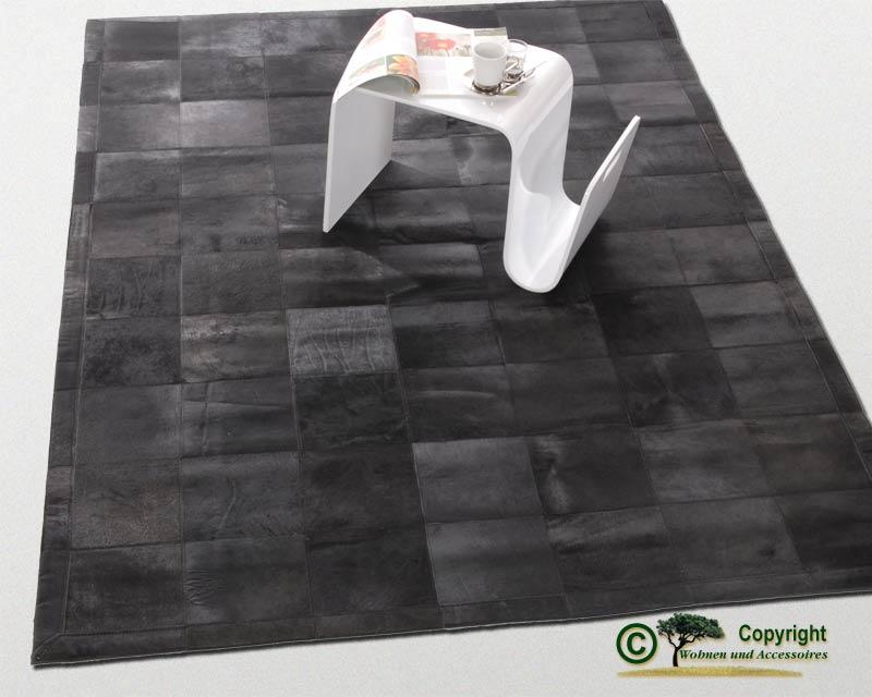 edler fellteppich teppich aus fell schwarz 170x240cm ebay. Black Bedroom Furniture Sets. Home Design Ideas