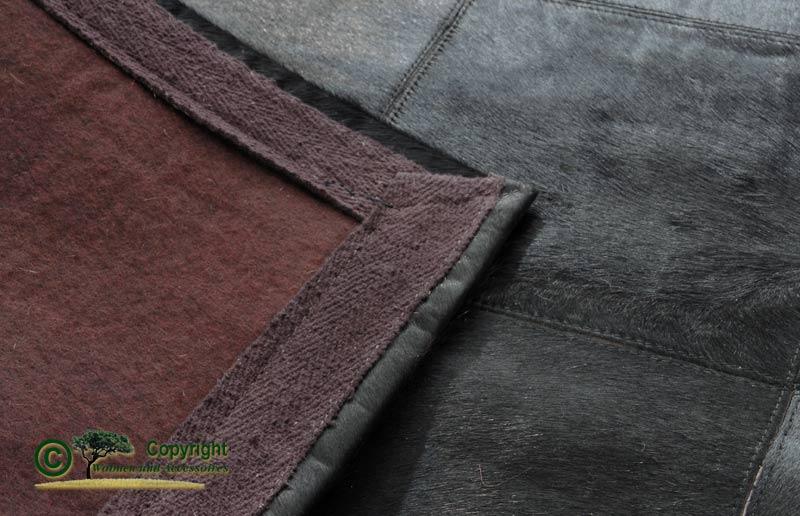 Edler fellteppich teppich aus fell schwarz 170x240cm ebay for Wohnen und accessoires