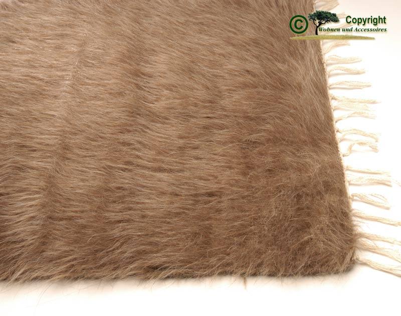 ziegenhaarteppich teppich mohair ziegenhaar beige 240 ebay. Black Bedroom Furniture Sets. Home Design Ideas