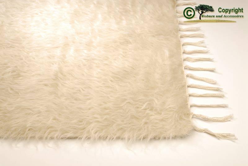 Ziegenhaarteppich teppich mohair ziegenhaar wei 240 ebay for Wohnen und accessoires