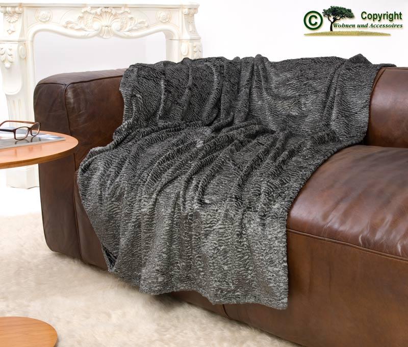 exclusive persianer imitat felldecke dunkelgrau polar. Black Bedroom Furniture Sets. Home Design Ideas