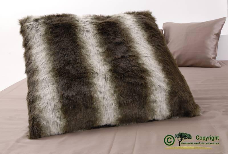 gro es fellkissen pelzkissen webpelzkissen wolfii 60x60 ebay. Black Bedroom Furniture Sets. Home Design Ideas