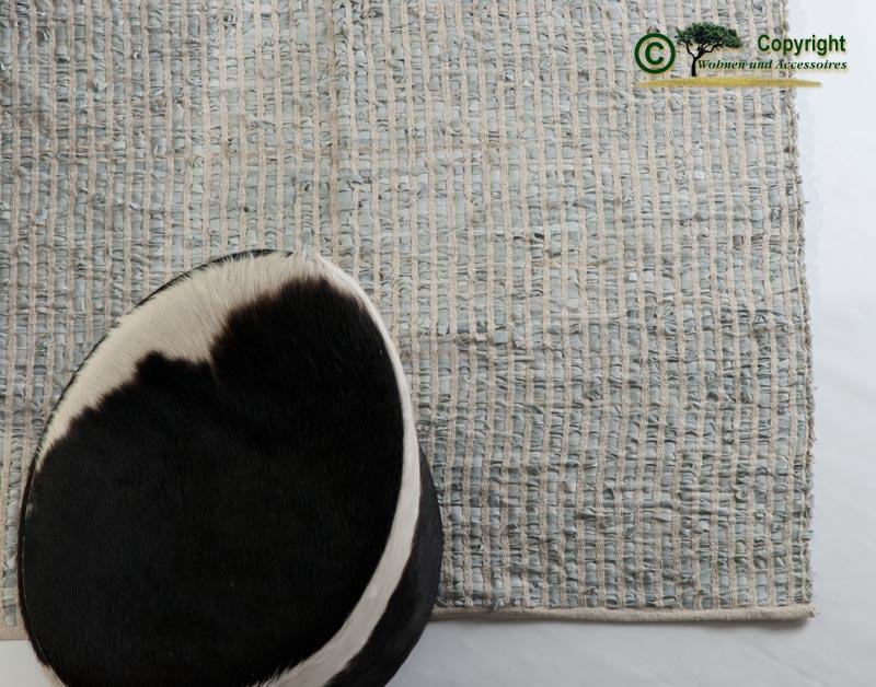 Lederteppich webteppich flickenteppich leder teppich for Wohnen und accessoires