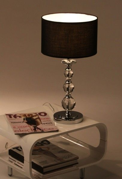 tischleuchte tischlampe nachttischlampe acrylglas chrom ebay. Black Bedroom Furniture Sets. Home Design Ideas