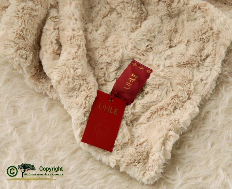 Pelzdecke felldecke webpelzdecke teddyfell creme beige ebay for Wohnen und accessoires