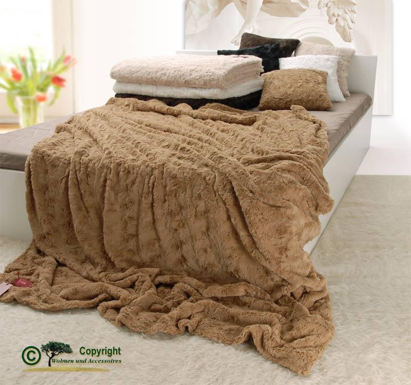 pelzdecke felldecke webpelzdecke teddyfell farbe kamel ebay. Black Bedroom Furniture Sets. Home Design Ideas