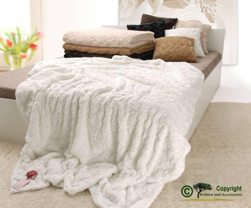 pelzdecke felldecke webpelzdecke teddyfell farbe wei ebay. Black Bedroom Furniture Sets. Home Design Ideas